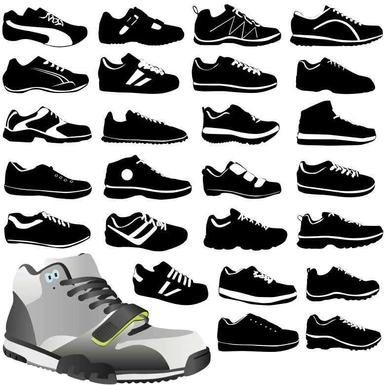 14 Tennis Shoe Vector Images
