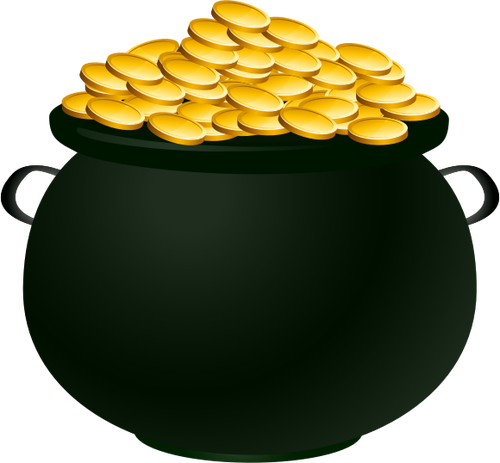 14 Pot Of Gold Vector Images