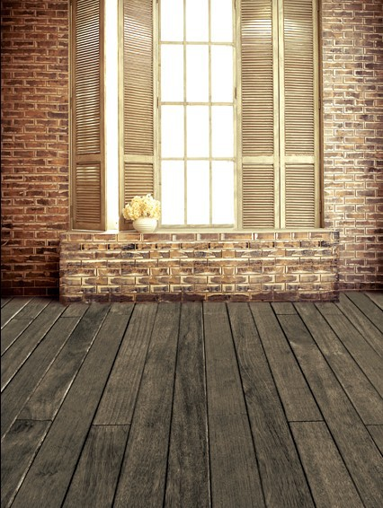 Walls with Wood Floors Backdrops Photography