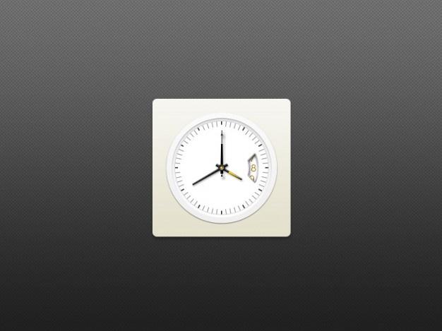 White Clock Icon