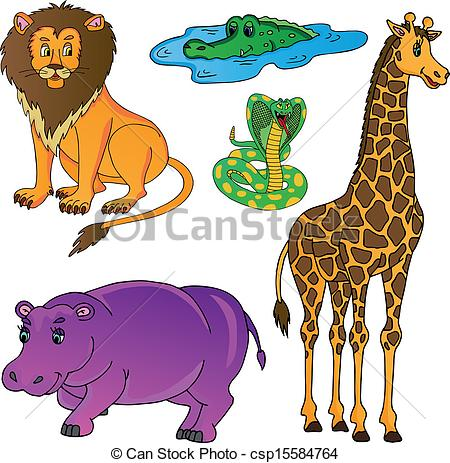 Wild Animal Clip Art Vectors