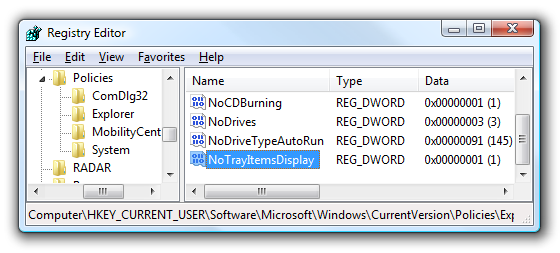 Windows System Tray Icons