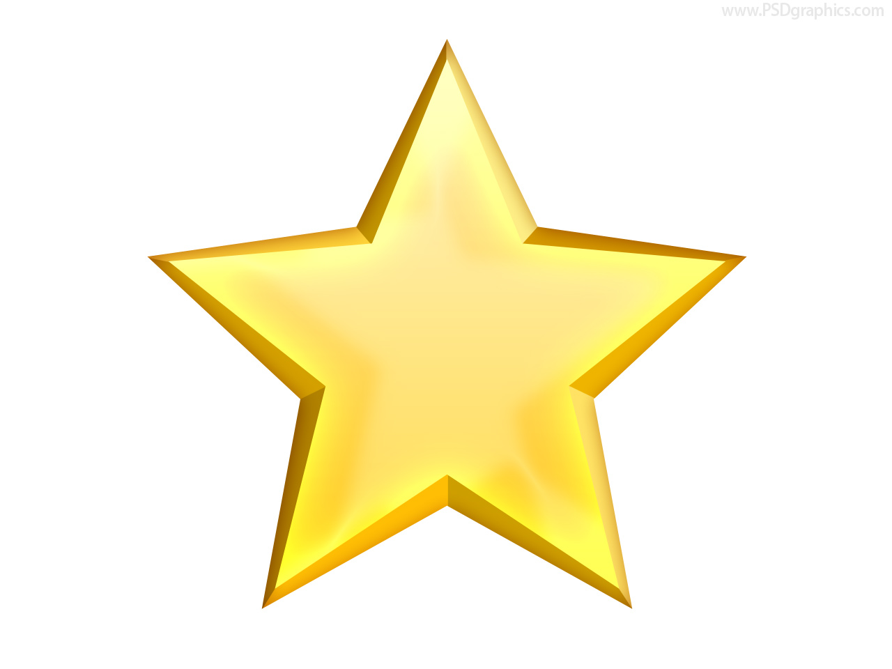 9 Yellow Star Icon Images
