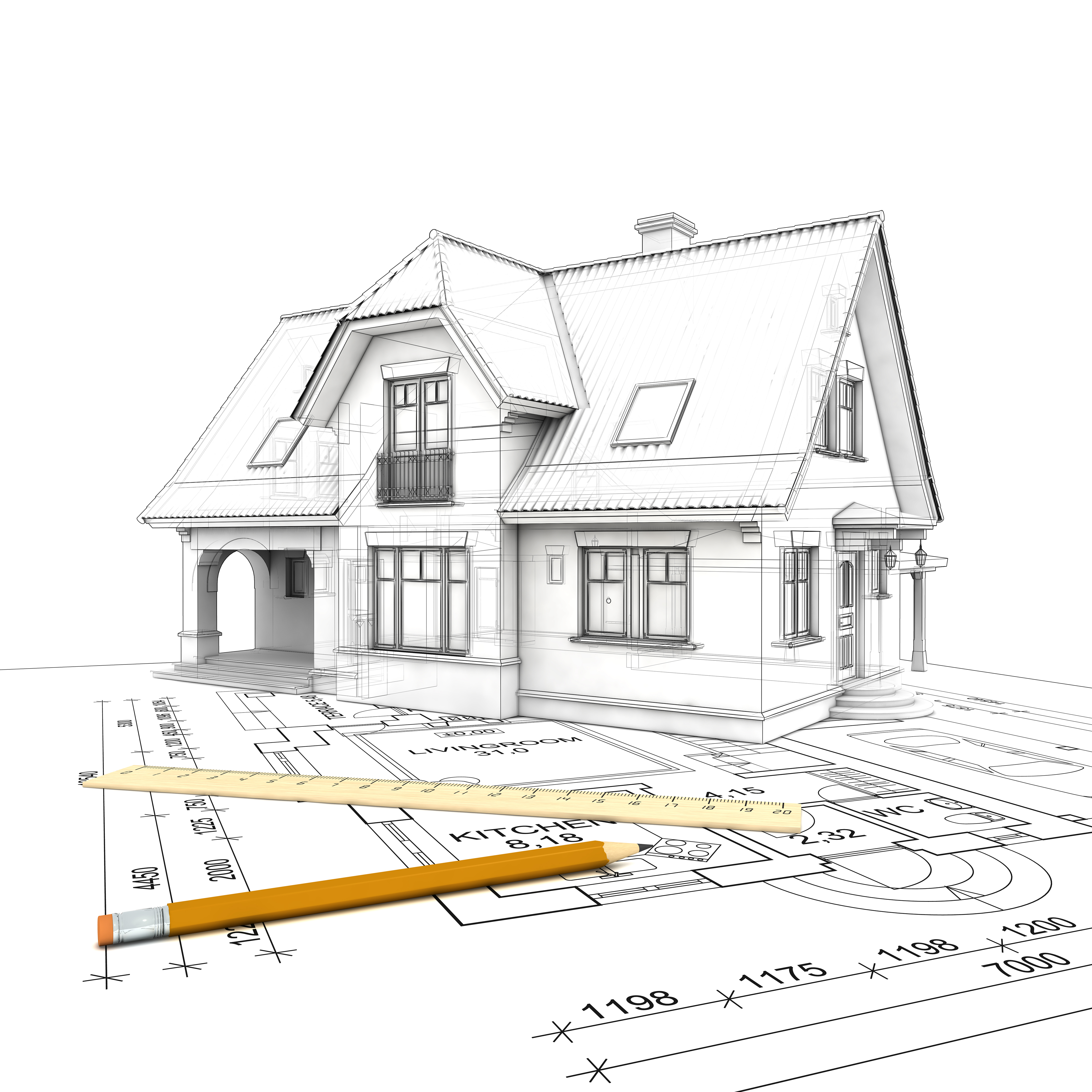 3D House Drawings Plans