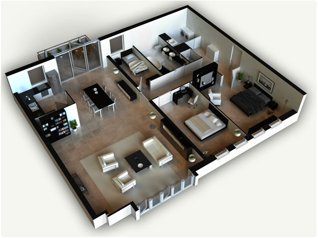 3D House Floor Plans