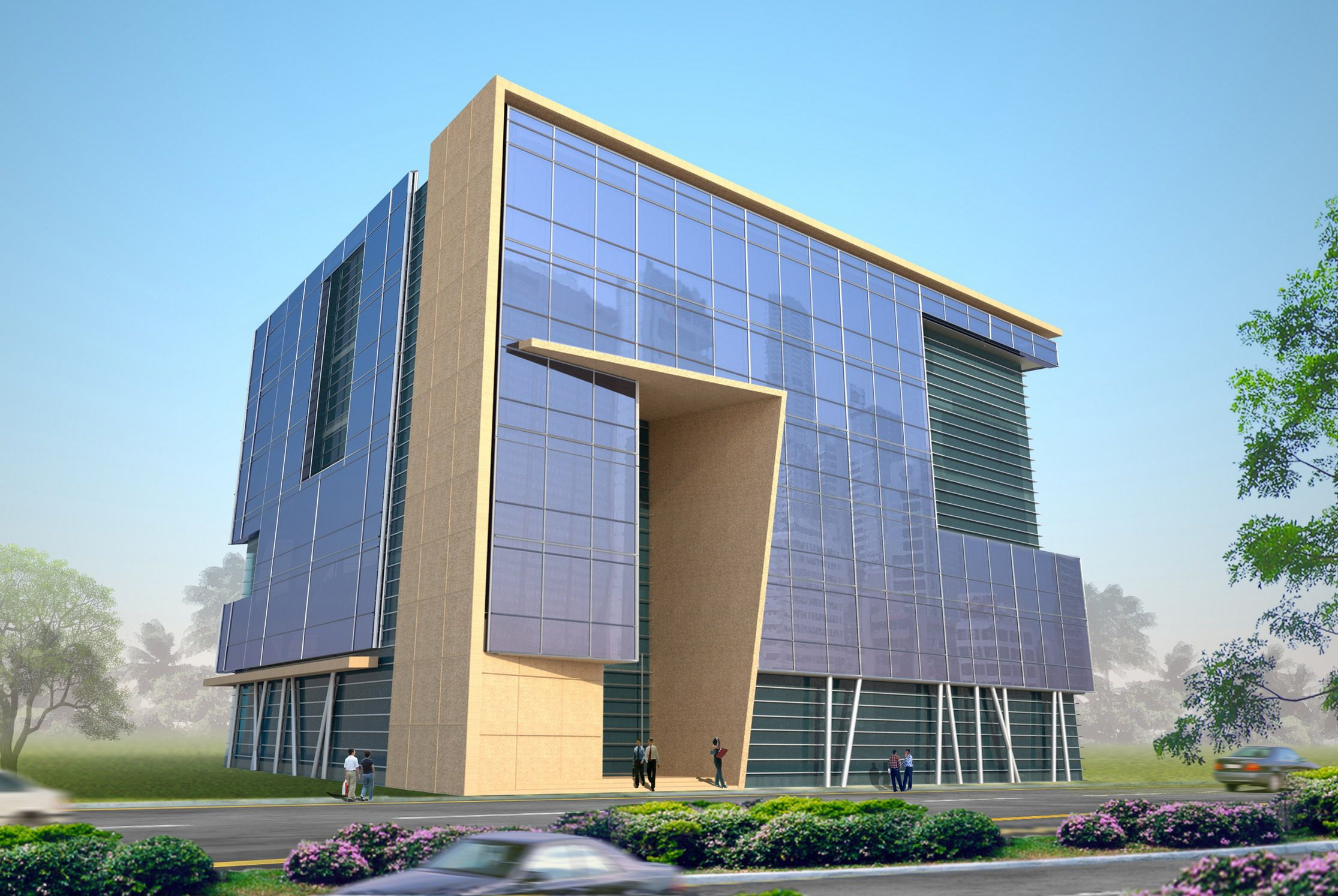 3D Office Building Design