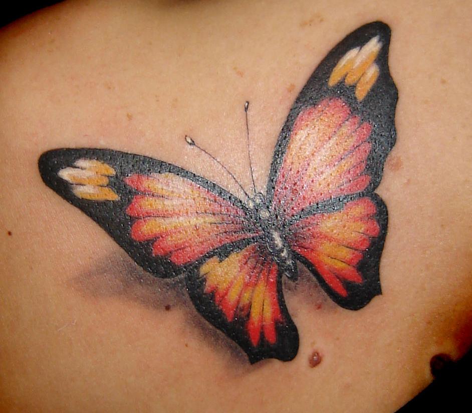 3D Tattoos Butterfly Wings