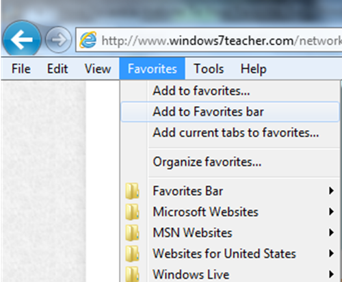 13 Favorites Bar Icons Windows 7 Images - Windows 7 ...