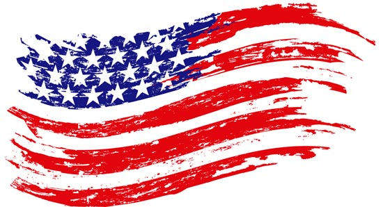 American Flag Design Vectors