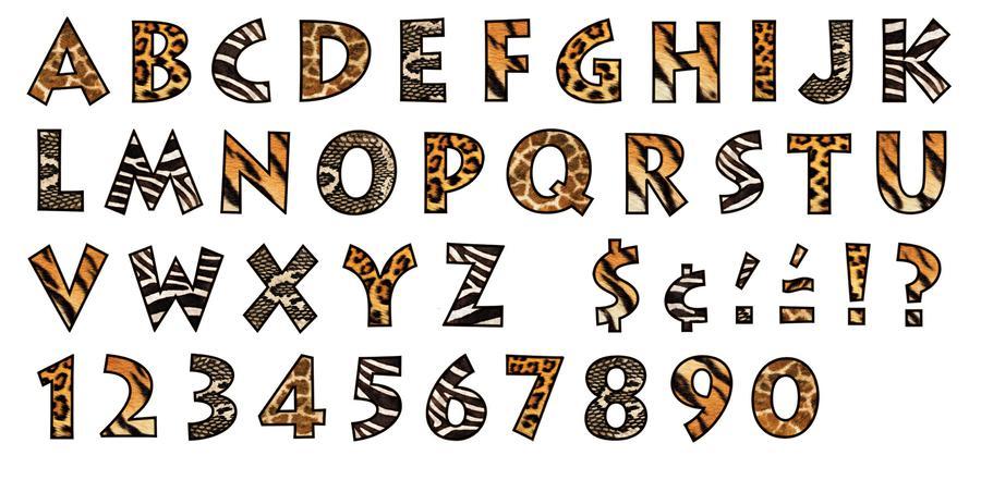 12 Animal Print Font Generator Images