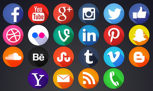 8 Social Media Icons Motion Images