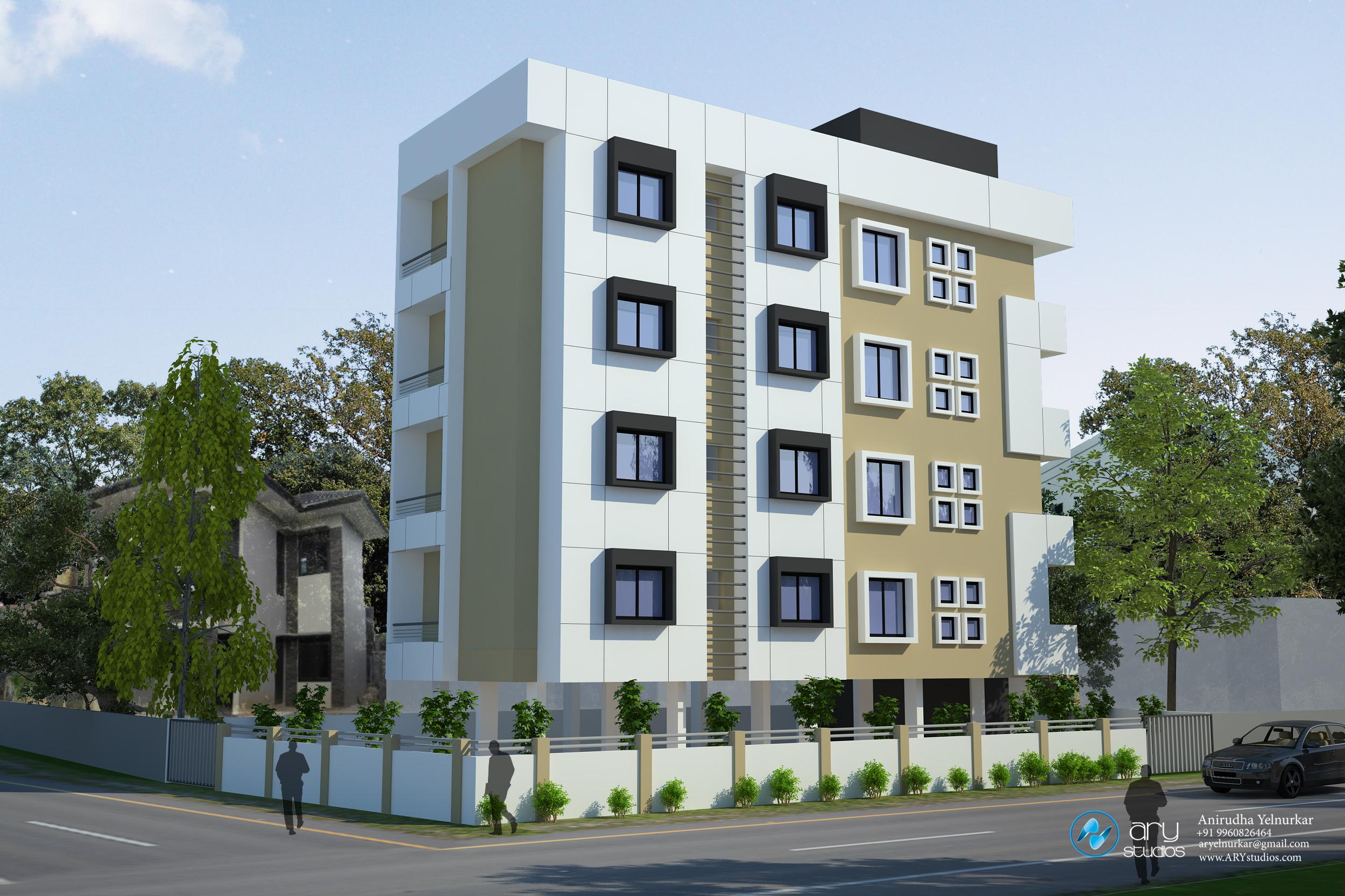 Apartment Building Elevation