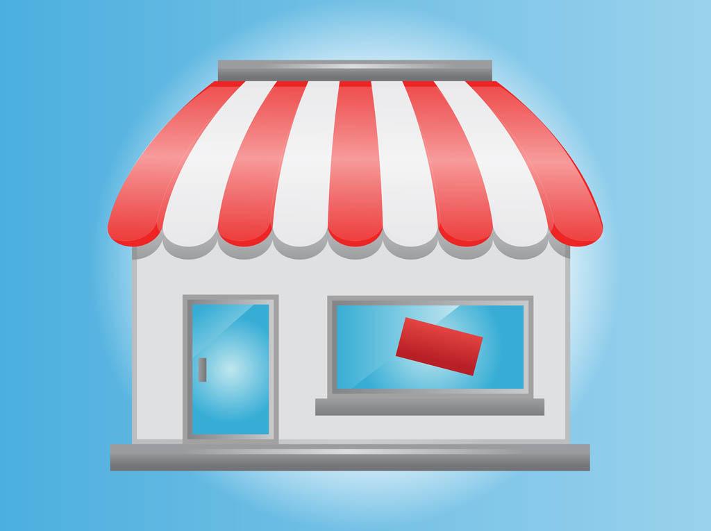 Bakery Shop Window Vector