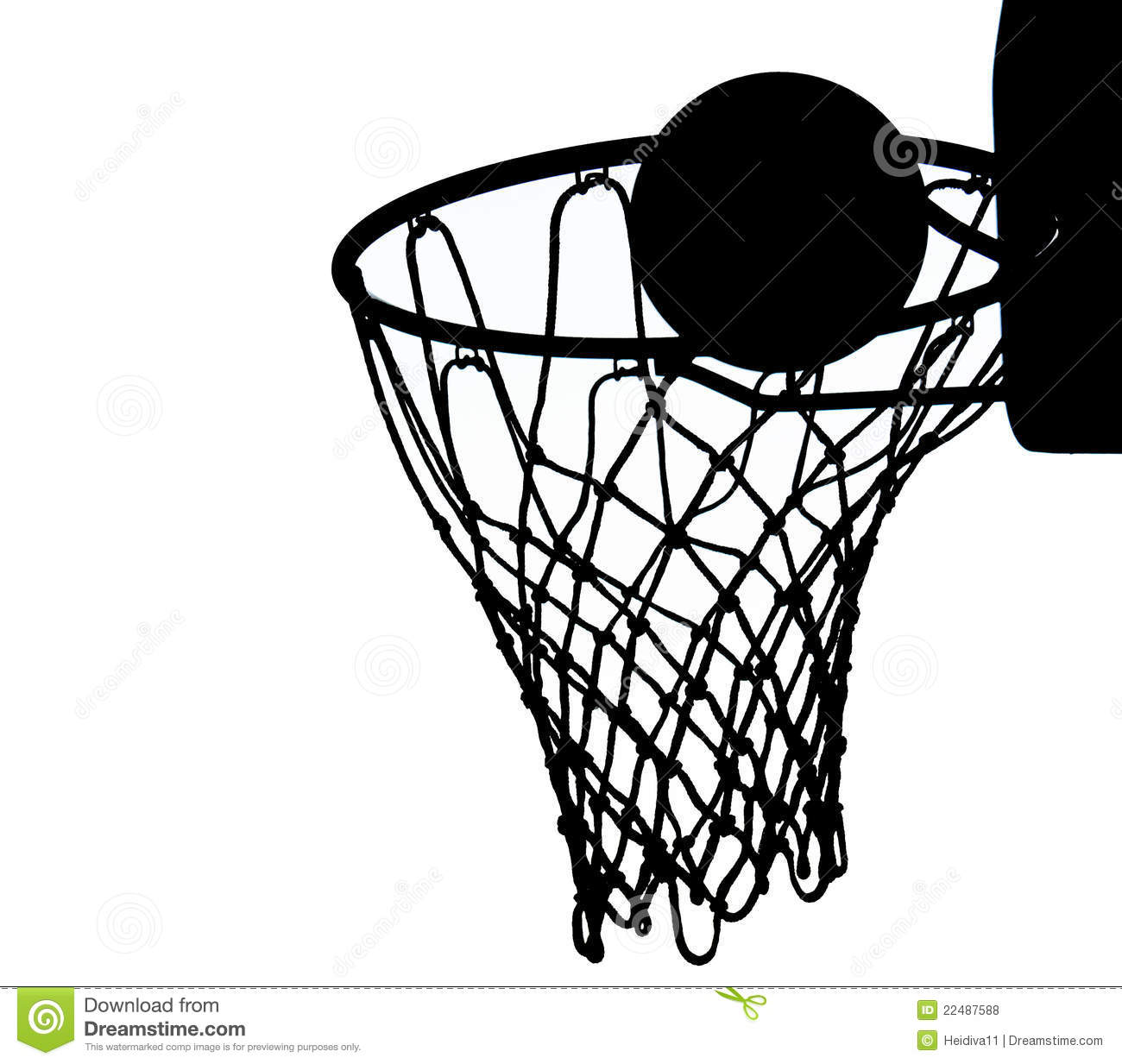 Basketball Net Silhouette Vector