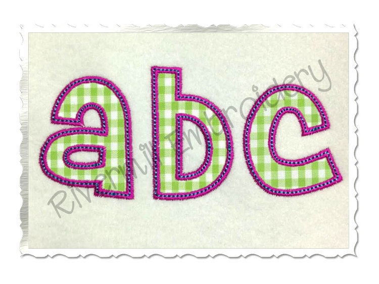 Bean Stitch Machine Embroidery Alphabet Fonts