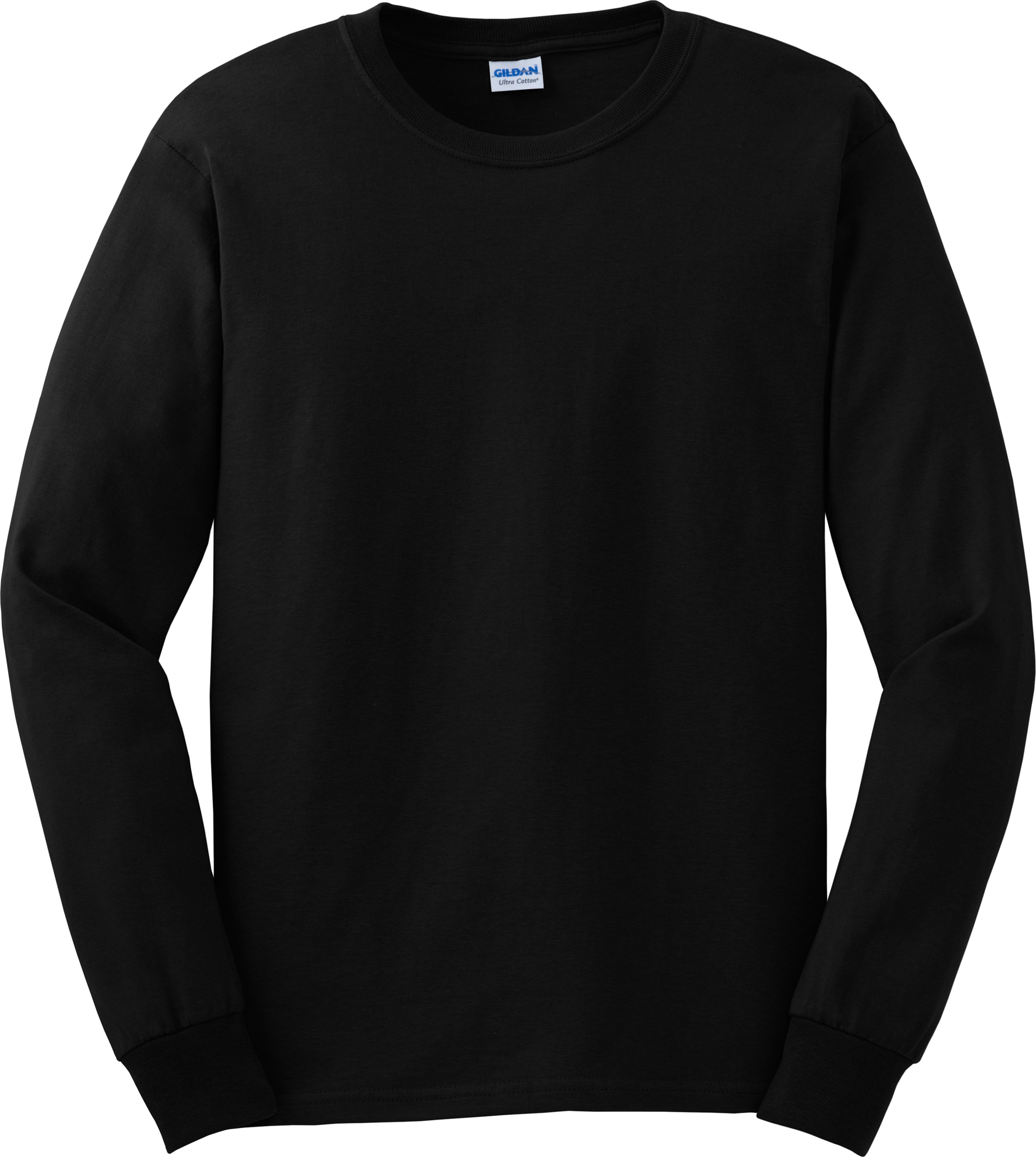 Black Long Sleeve Blank Shirt