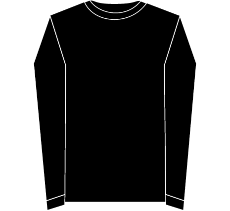 Black Long Sleeve Shirt Template