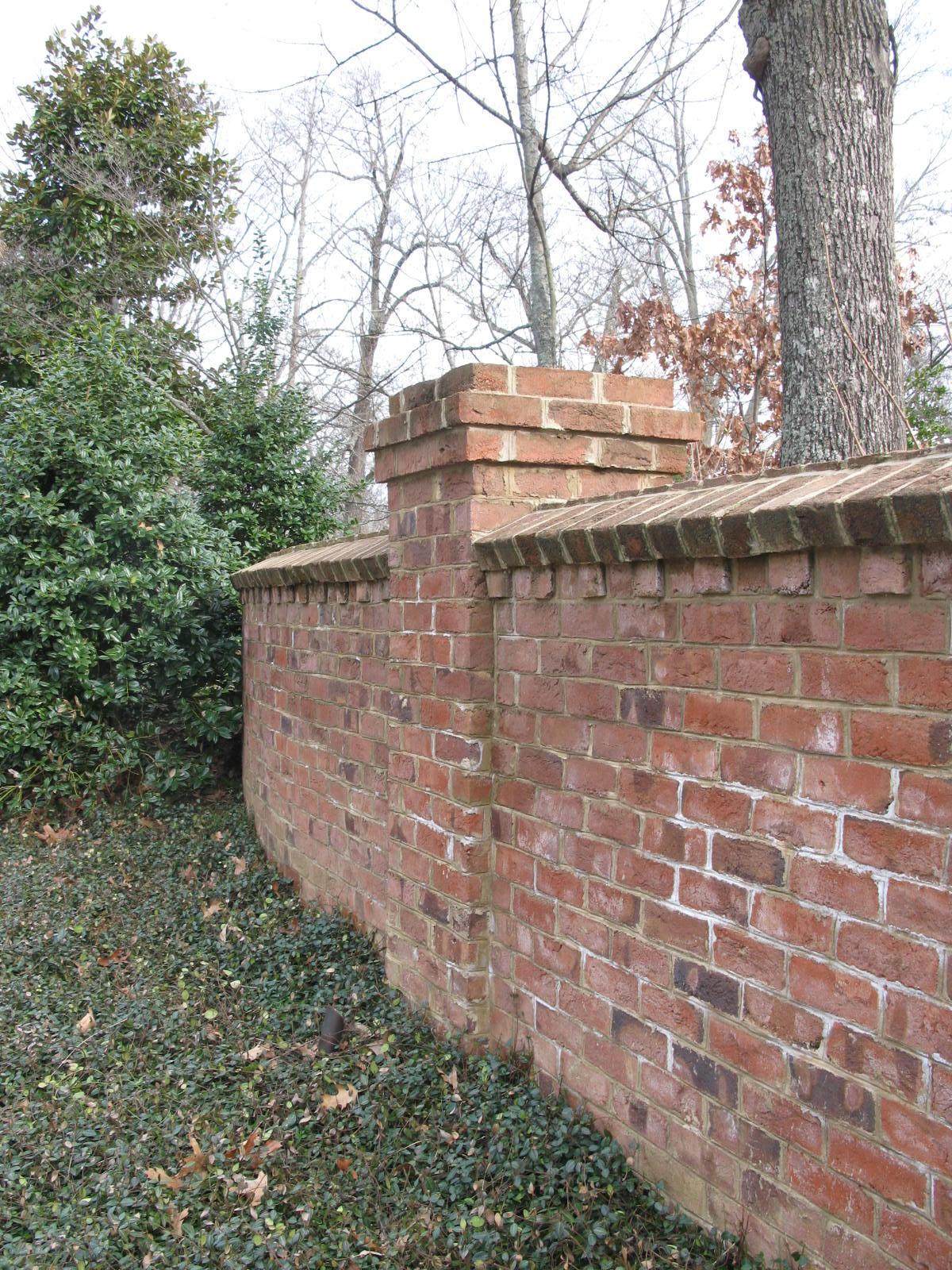 Fence Brick Wall Design : Brick wall designs images red tile