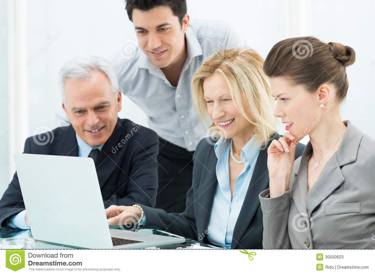 Business Person Working On Laptop