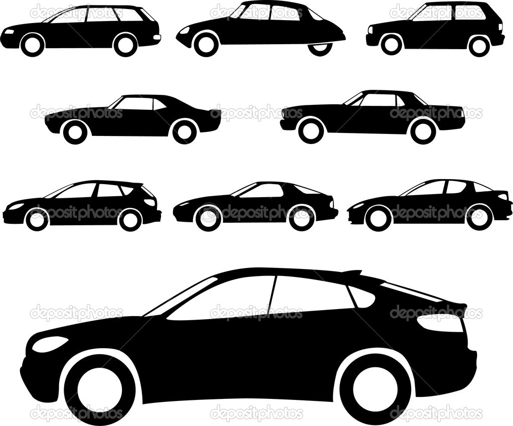 Sports car silhouette vector 9