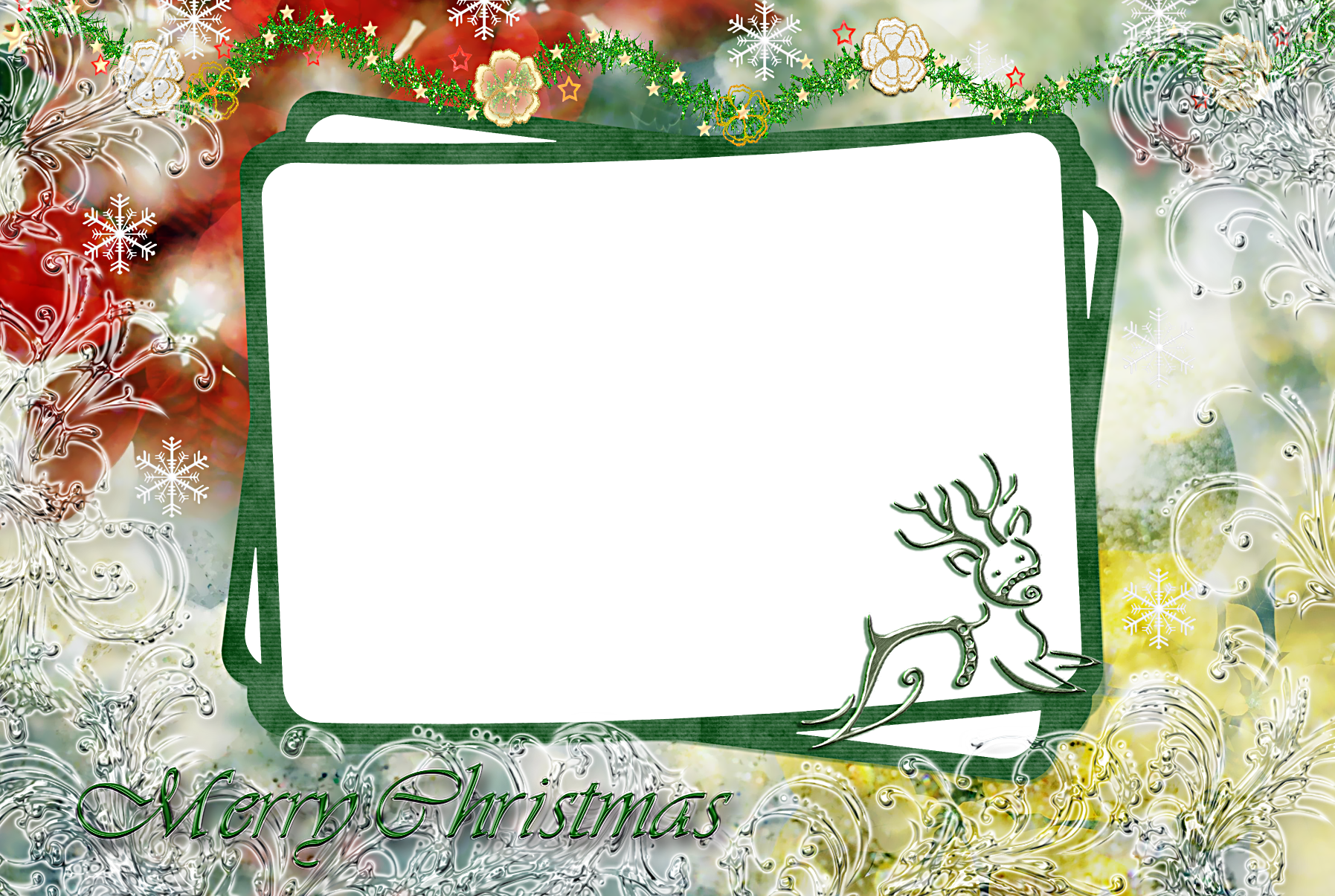 15 Free Christmas Photoshop Frame Templates Images