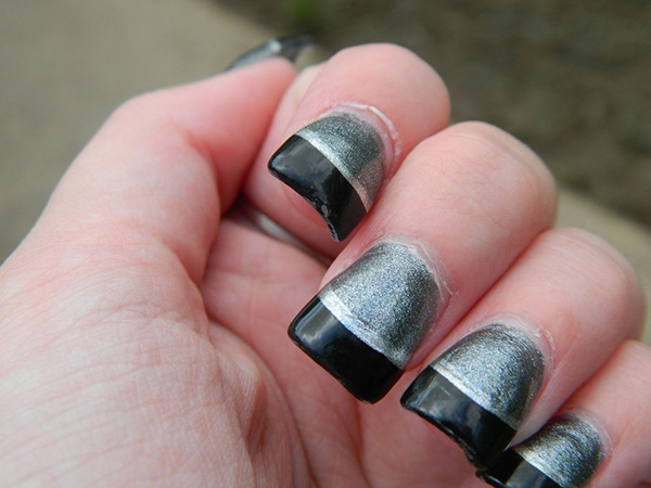 11 Cute Black And Silver Nail Designs Images