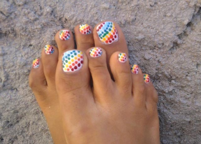 14 Polka Dot Pedicure Designs Images
