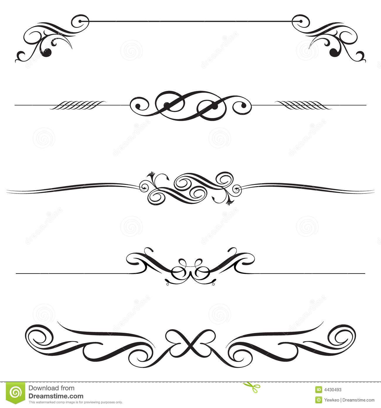 Horizontal Line Art : Decorative line vector free download pixshark
