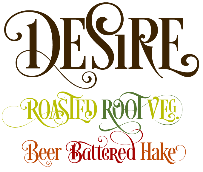 14 Desire Font Letter Images
