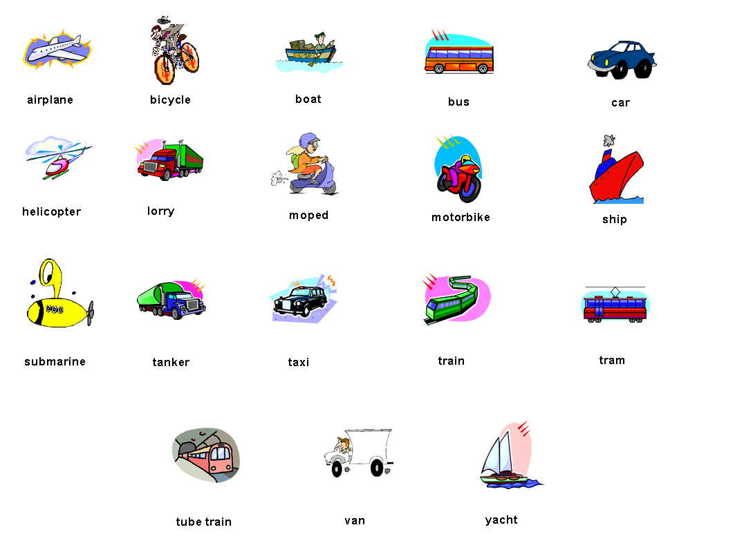 7 Types Of Transportation Icon Images