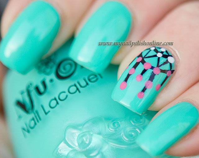 Dream Catcher Nail Art Design