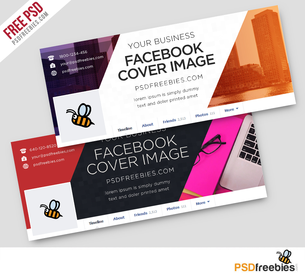 Facebook Cover PSD Template Free