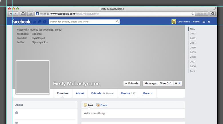 Facebook Profile Template 2013