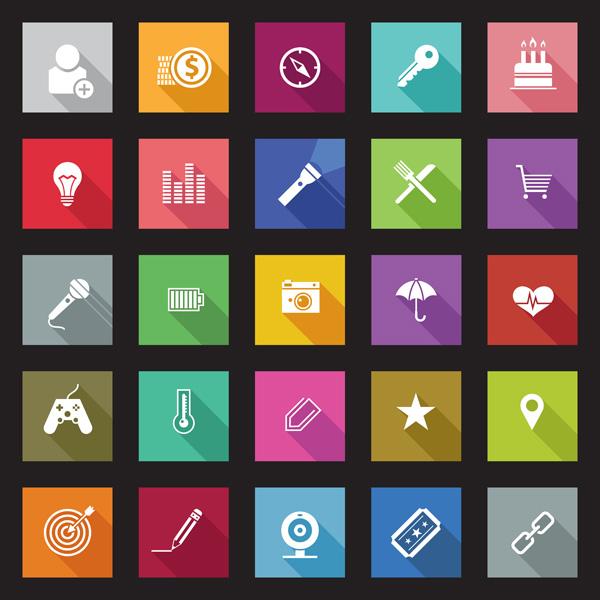 Flat App Icon Mobile