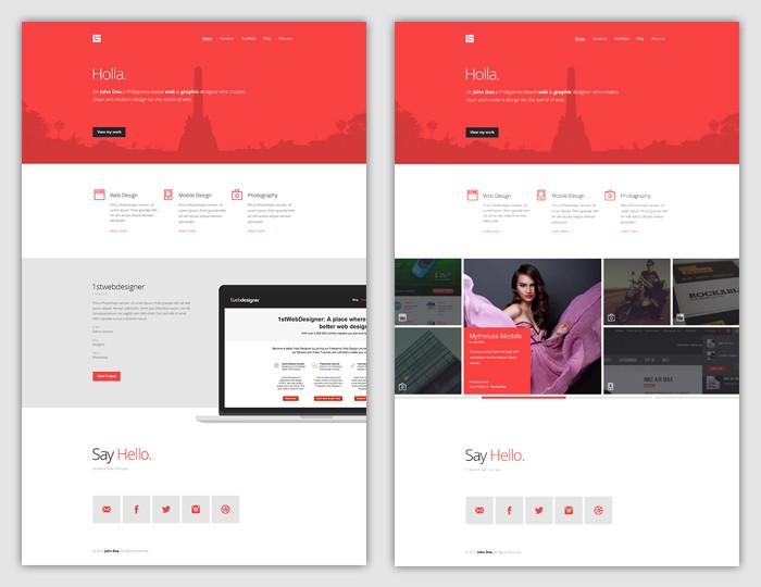 Flat Web Design Tutorial