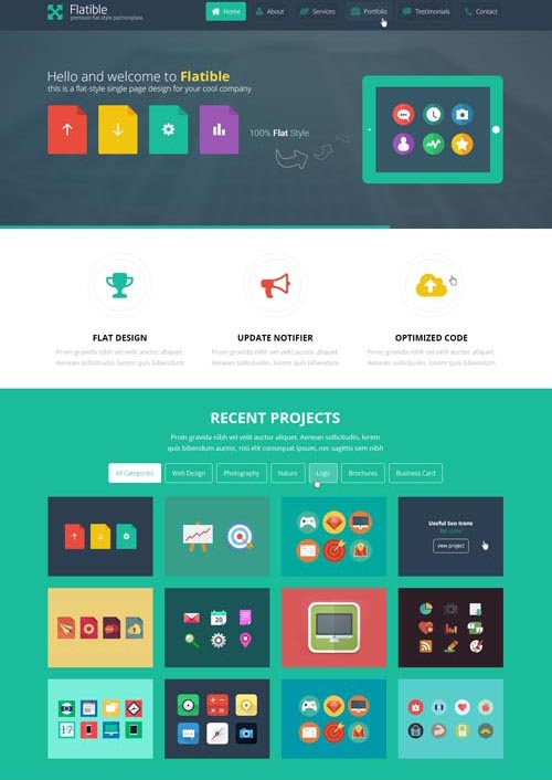 Flat Website Design Examples