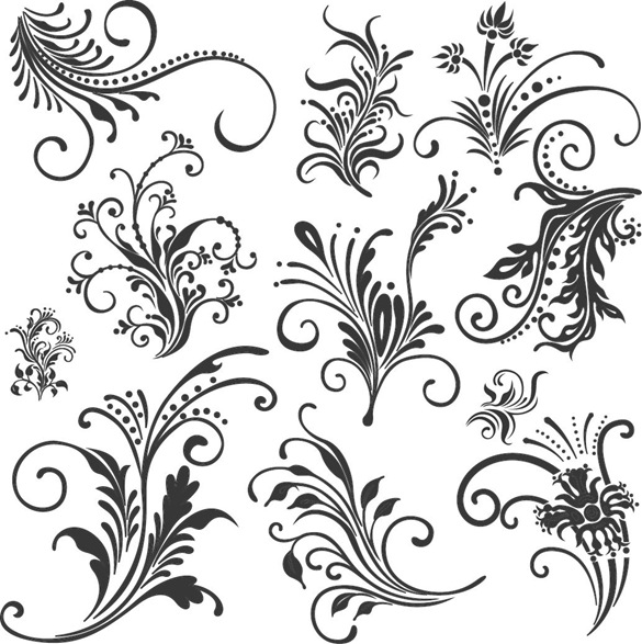 Floral Elements Vector Free