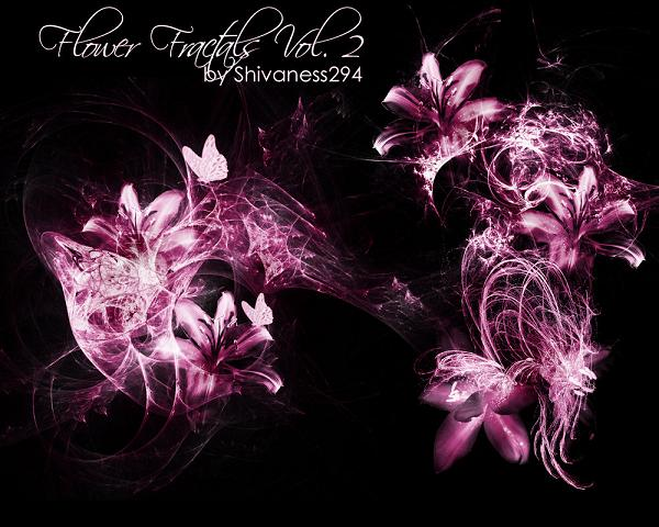 Flower Fractal Brushes Photoshop