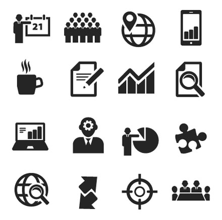 8 Business Icons Vector Set Images