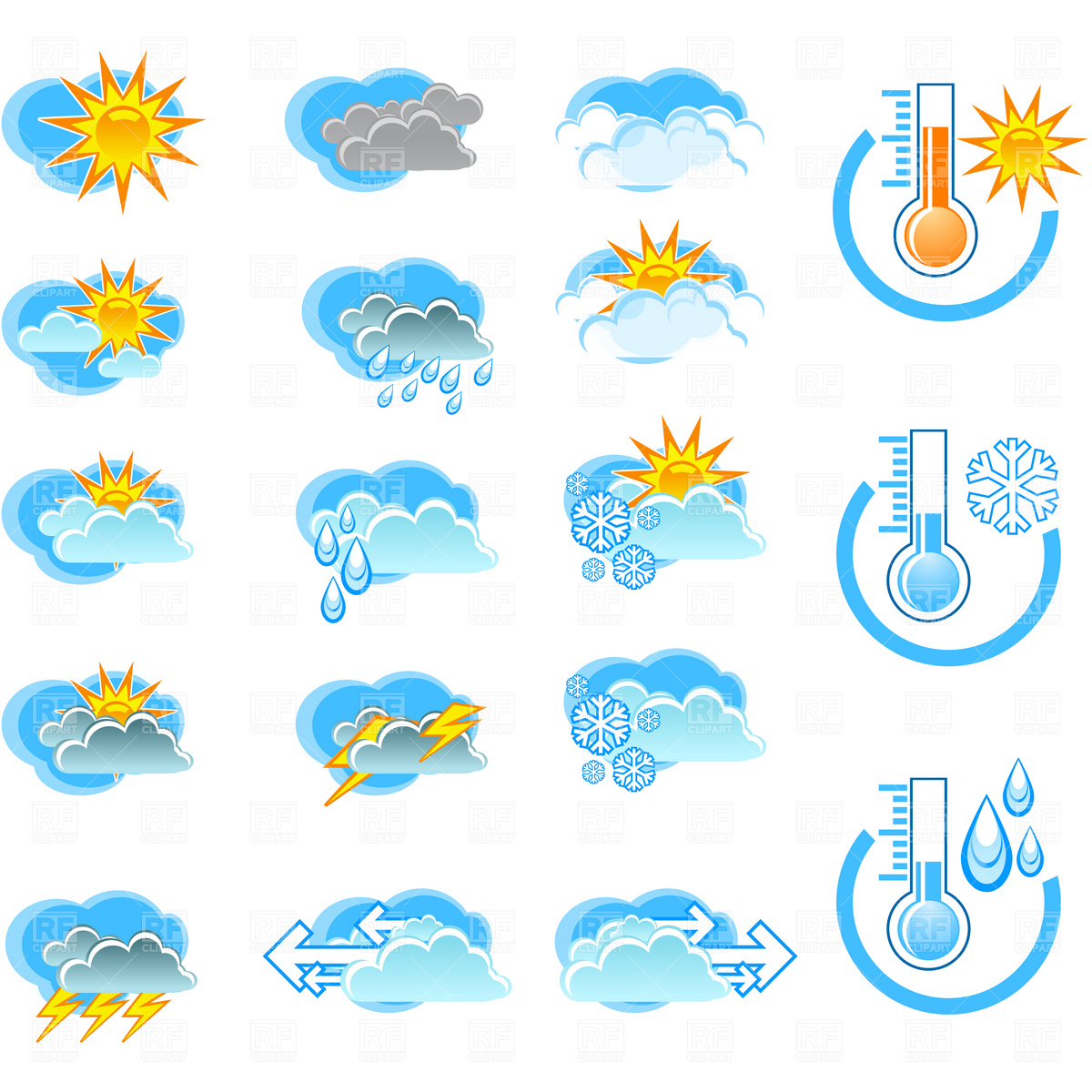 6 Royalty Free Weather Icons Images