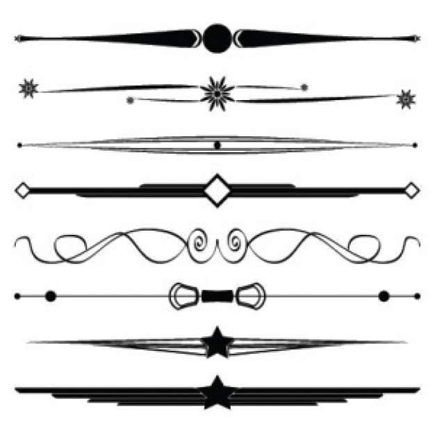 Free Decorative Borders and Dividers Clip Art