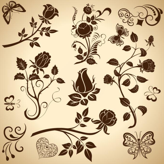 Free Floral Vector Design Elements
