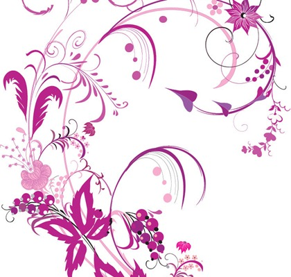14 Purple Flower Vector Graphics Images