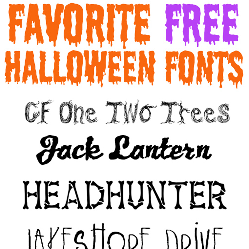 12 Halloween -themed Fonts Images