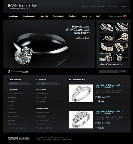 Jewelry Templates Free. 30 jewelry website themes templates free ...