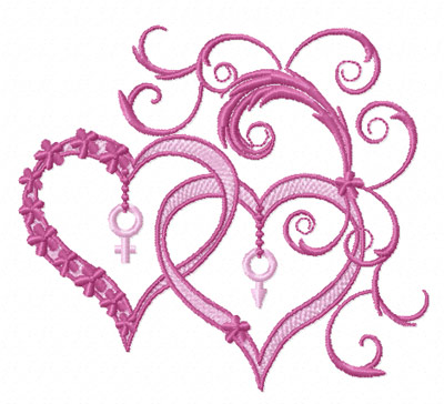 Free Machine Embroidery Heart Designs
