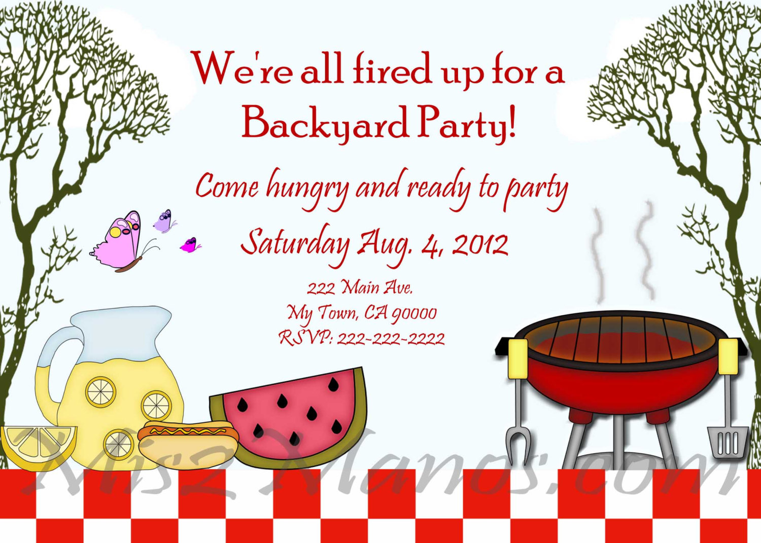 photo about Free Printable Bbq Invitations titled 17 Summer time BBQ Invitation Phrase Template Pictures - Free of charge