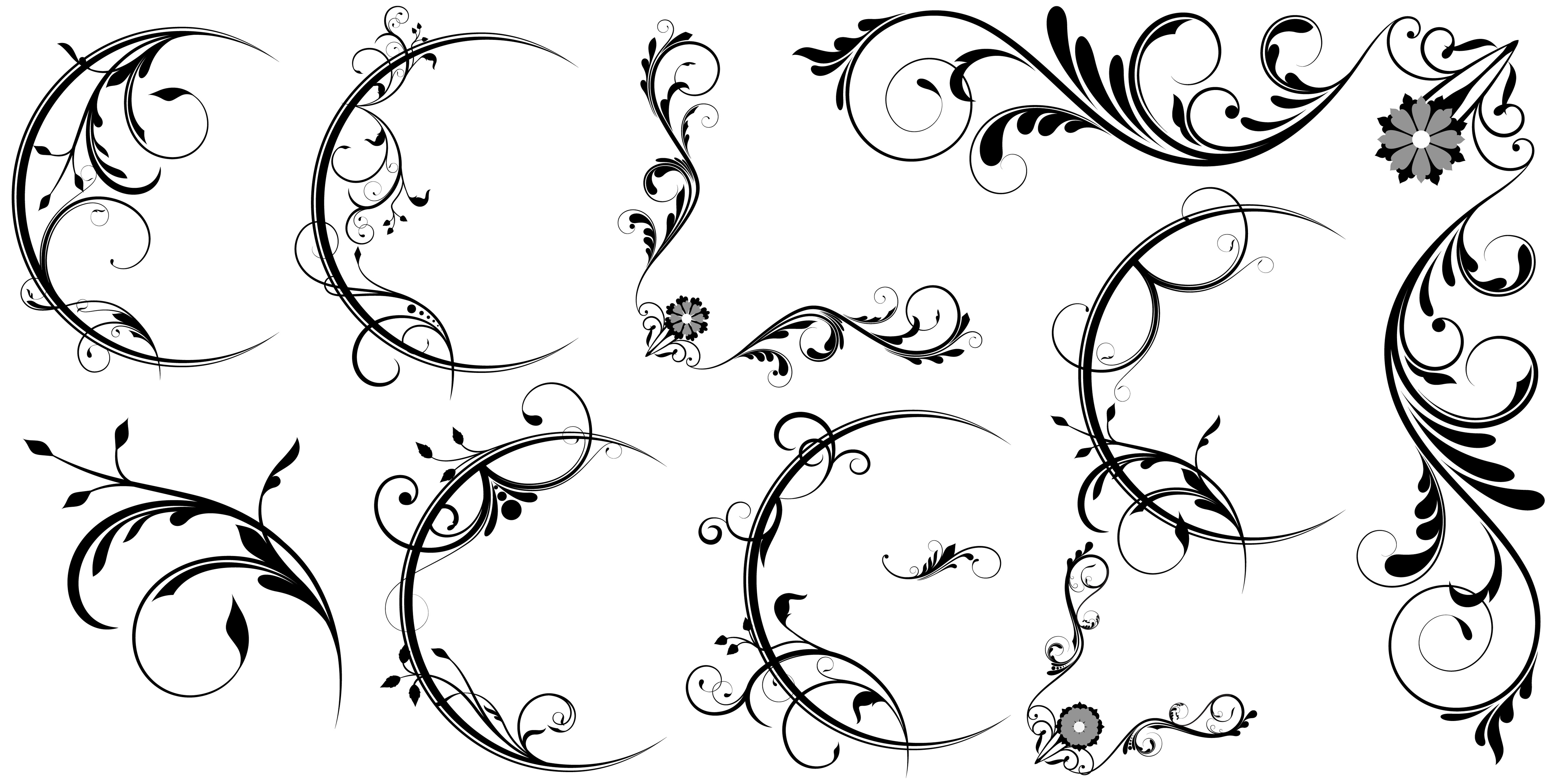Line Art Designs For Borders : Photoshop vector line borders images free