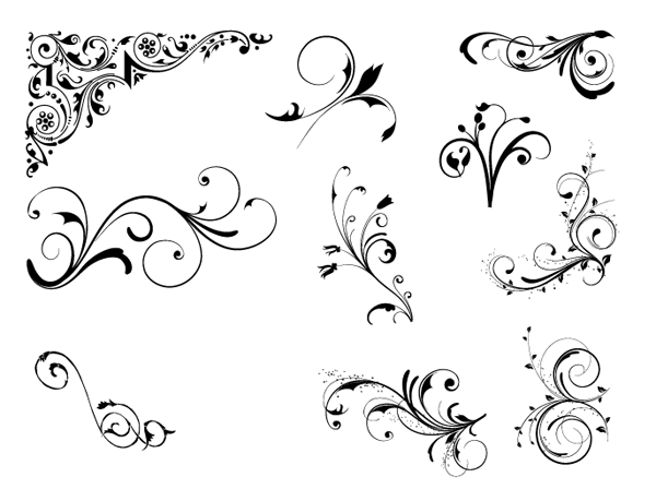 Free Vintage Vector Ornaments