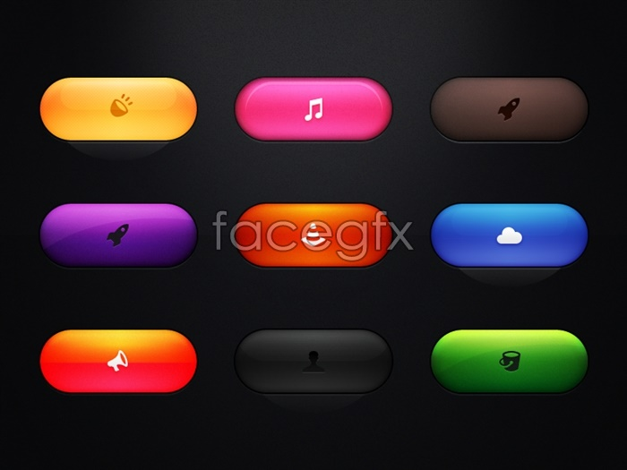 9 Cool Web Buttons PSD Files Images